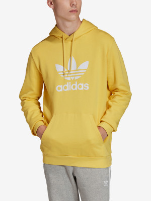 Mikina adidas Originals Trefoil Hoodie Žlutá