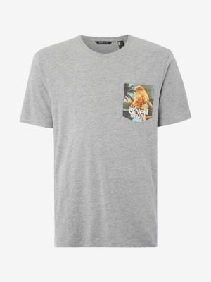 Tričko O'Neill Lm Print T-Shirt Šedá