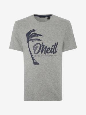 Tričko O'Neill Lm Palm Graphic T-Shirt Šedá