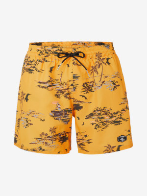 Boardshortky O'Neill Pm Tropical Shorts Žlutá
