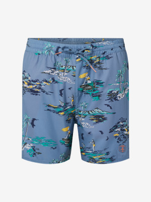 Boardshortky O'Neill Pm Tropical Shorts Modrá