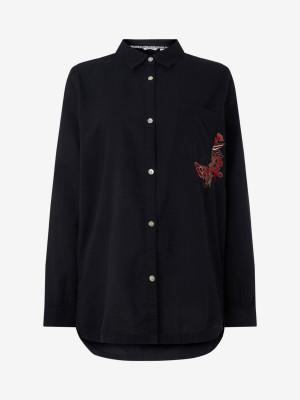 Košile O'Neill Lw Mori L/Slv Shirt Černá