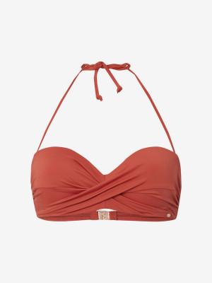 Svršek plavek O'Neill Pw Sol Mix Bikini Top Červená