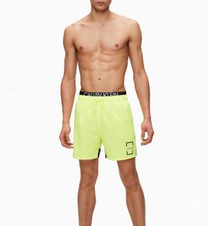 Pánské plavky KM0KM00436-ZAA žlutá - Calvin Klein žlutá