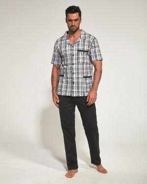 Rozepínané pánské pyžamo Cornette 318/38 kr/r 3XL-5XL tmavě modrá 3XL