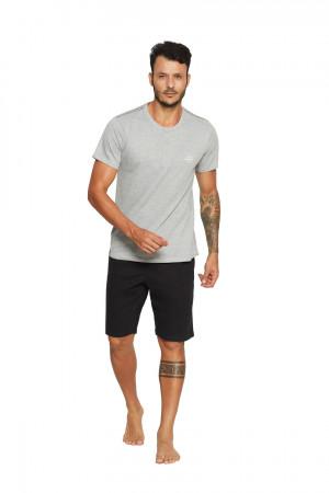 Pánské pyžamo VOLCANO 37830 šedá-černá