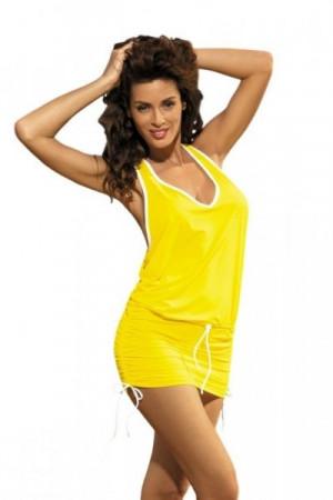 Marko Elsa Limon M-313 žluté (287) Plážové šaty M jako na fotografii