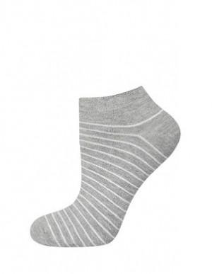 Pánské pruhované kotníkové ponožky Soxo šedá-černá 40-45