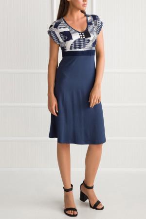Plážové šaty 00-10-5840 - Vamp bílo/modrá