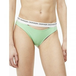 Calvin Klein Plavky CK Logo Classic Bikini Green Spodní Díl
