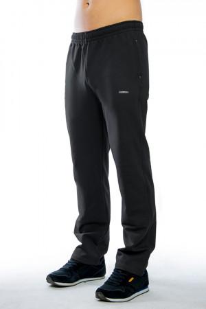 Dlouhé pánské kalhoty 0122 tmavě šedá-žíhaná