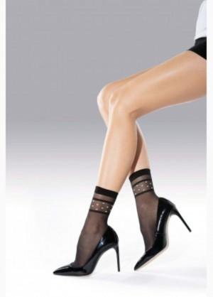 Dámské vzorované ponožky SAY přírodní UNI