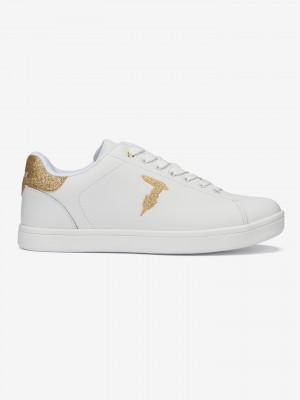 Boty Trussardi Sneakers Glitter Patch Bílá
