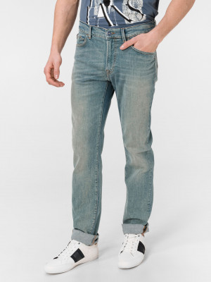 Džíny Trussardi 380 Icon Denim Green-Cast Modrá