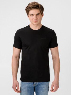 Tričko Trussardi T-Shirt Mercerized Cotton Regular Fit Černá