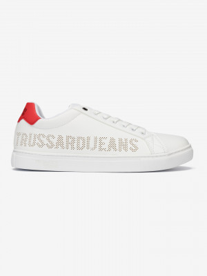 Boty Trussardi Sneaker Ecoleather Perforated Bílá