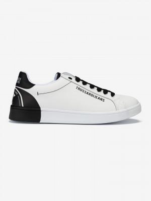 Boty Trussardi Sneakers Leather Printing Bílá