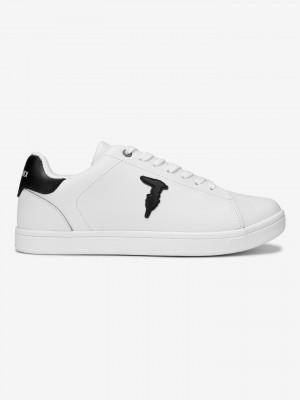 Boty Trussardi Sneaker Leather Rubber Patch Bílá