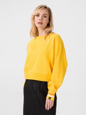 Mikina Converse Womens Asymmetrical Rib Crew Žlutá