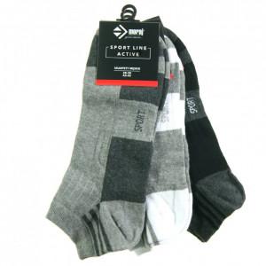 Pánské ponožky 3pcs CSM170-100 černošedobílá - Moraj černo/šedo/bílá 39-42