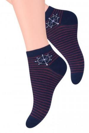 Steven art. 114 Dámské kotníkové ponožky 38-40 béžový světlý melanž
