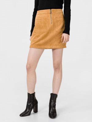 Cordatine Sukně Vero Moda Žlutá