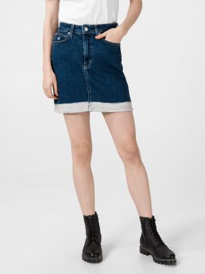 Sukně Calvin Klein Modrá