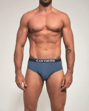 Cornette High Emotion 507/15 Pánské slipy L jeans