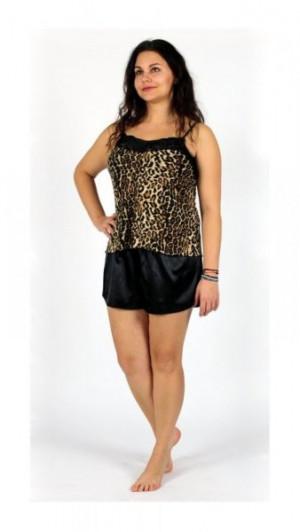 De Lafense 463 Neva Dámské pyžamo XL leopardí hnědá