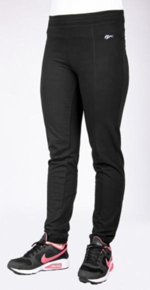 Dlouhé dámské kalhoty 0151 šedá-žíhaná S/32