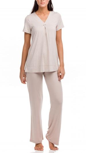 Dámské pyžamo Electra 12210-505 béžová - Vamp béžová