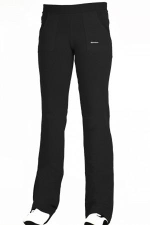 Dlouhé dámské kalhoty 0101 šedá-žíhaná S/32