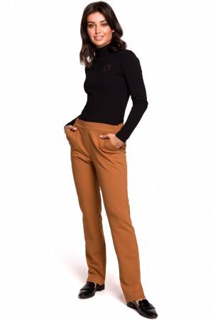 Dámské kalhoty B124 - BEwear karamelová S-36