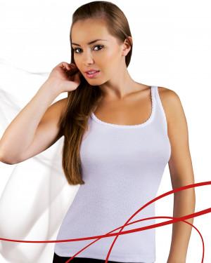 Dámská košilka Emili Mania 2XL-3XL bílá bílá
