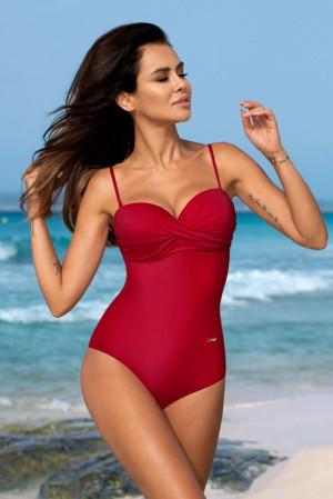 Dámské jednodílné plavky Karen - Gabbiano červená 40E/L