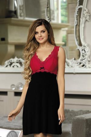 Noční košile Larisa black-red