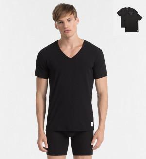Calvin Klein 2Pack Pánská Trička Černá