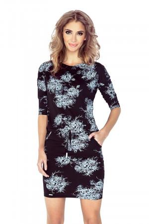 Dámské šaty 007-1 bílo-černá
