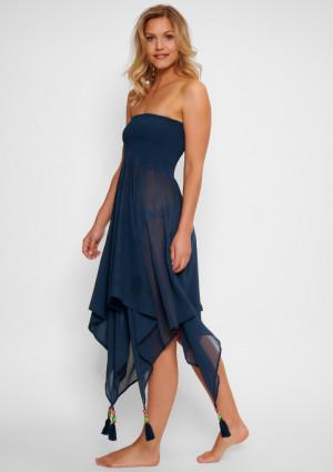 Dámské šaty LingaDore 5102DR S Tm. modrá