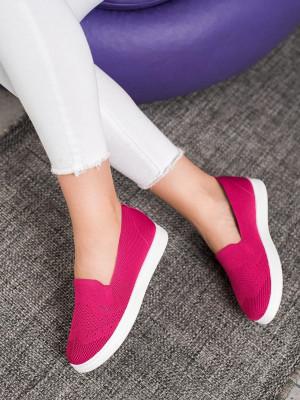 Designové růžové dámské  tenisky bez podpatku