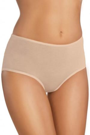 Bavlněné kalhotky s vyšším pasem 18 beige