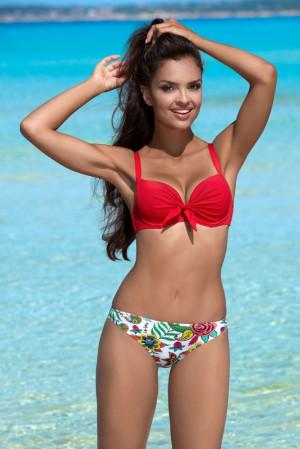 Dvoudílné plavky s kosticemi Grace červené