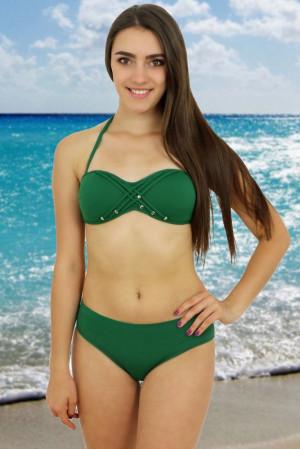 Dvoudílné zelené plavky Rock Star