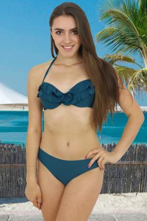 Dvoudílné modrozelené plavky Mohito