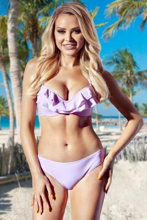 Dvoudílné lila plavky Mohito