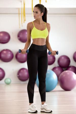 Dlouhé fitness legíny Pavla černé