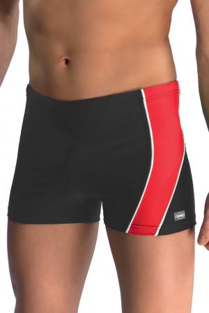 Pánské boxerkové plavky Michael1 černočervené