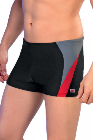Pánské boxerkové plavky Peter1 černočervené