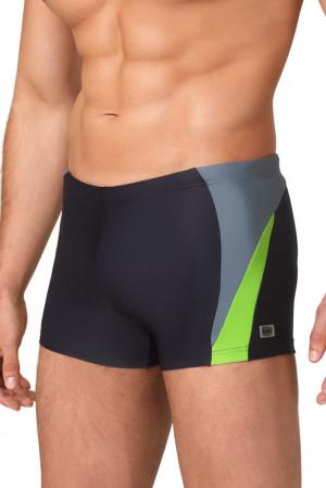 Pánské boxerkové plavky Peter4 černozelené