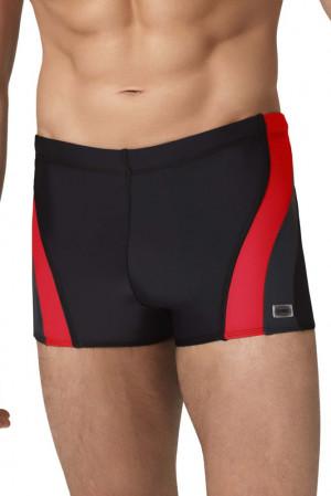 Pánské boxerkové plavky Philip2 černočervené